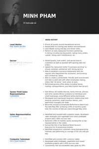 curriculum vitae sle for waiter waiter resume sles visualcv resume sles database