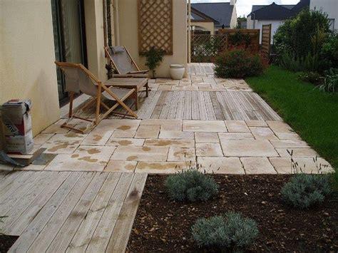terrasse bois et carrelage pierre couleur paysage photo n 176 09