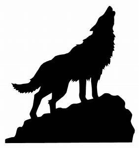 Wolf Silhouette Howling - ClipArt Best