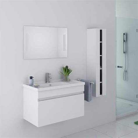 meuble de salle de bain blanc mdf et pvc meuble de salle de bain blanc dis800ab