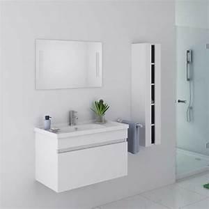 Meuble Salle De Bain En Solde : meuble de salle de bain blanc mdf et pvc meuble de salle de bain blanc dis800ab ~ Teatrodelosmanantiales.com Idées de Décoration
