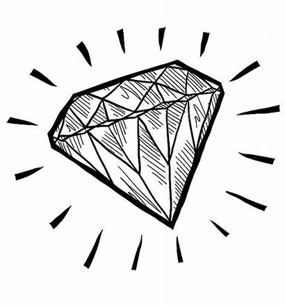 Diamond Coloring Shape Pages Sketch Play Drawing