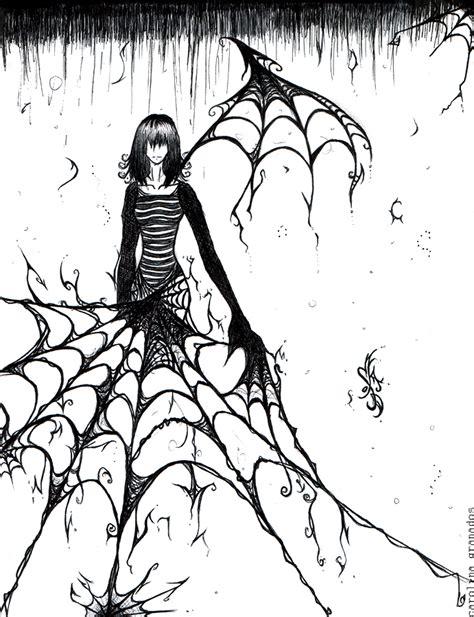 spider web drawing with spider spider webs by emblazedgreen on deviantart