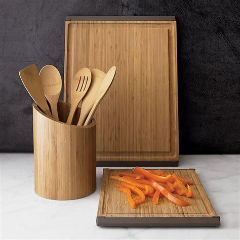 piece organic bamboo utensil set  cooking utensils