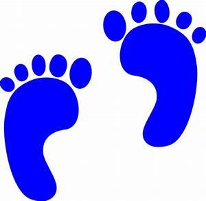 Blue Baby Footprints Clip Art at Clker.com - vector clip ...