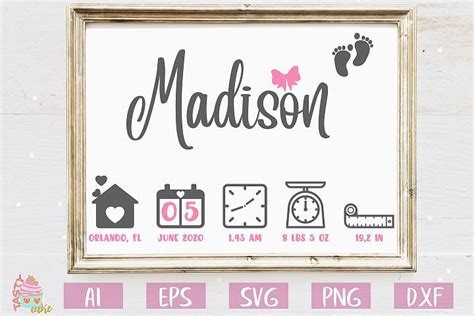 There are also several baby animals cartoon illustration around the text box so it will look cuter to print as birth baby birth announcement vector svg, ai file. Baby Birth Stats SVG - Birth Announcement Template (With ...