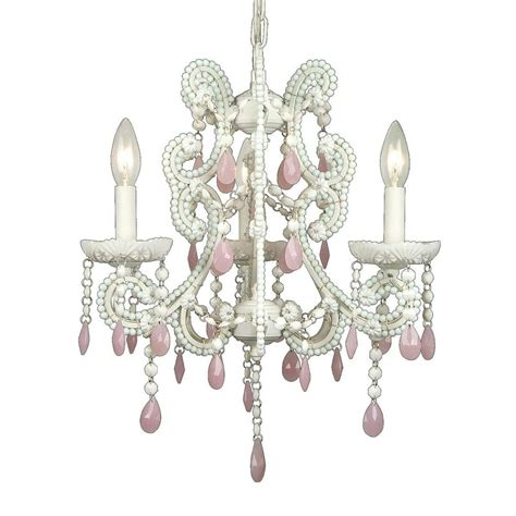 Light Pink Chandelier by Filament Design Xavier 3 Light Pink Chandelier Cli