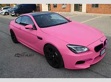BMW M6 Goes Feminine With Matte Pink Wrap autoevolution