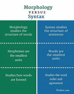 Difference Between Morphology And Syntax