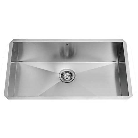 16 gauge stainless steel sink vigo 30 quot x 19 quot undermount single bowl 16 gauge stainless