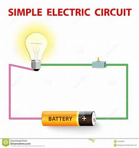 A Simple Electric Circuit Stock Photos