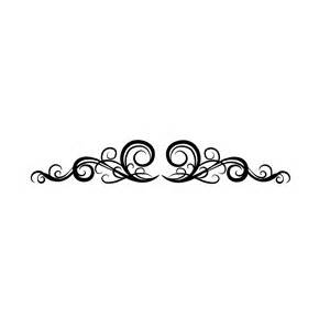 Elegant Line Swirl Designs Clip Art