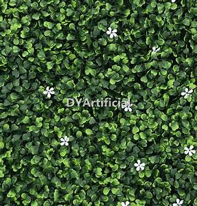 Cream Color Boxwood Panel With White Flowers - Dongyi