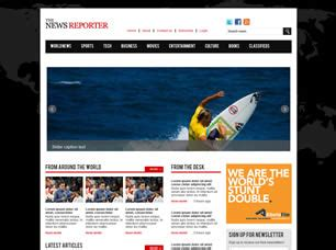 news site template free free news website templates 43 free css
