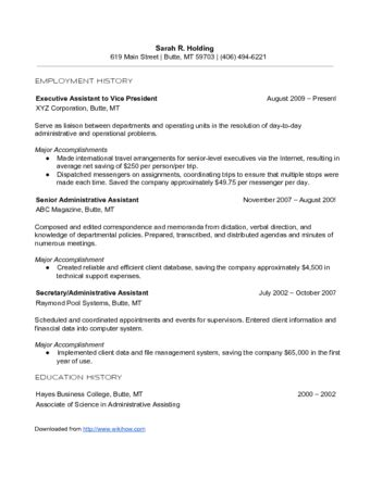 Doing A Resume by How To Write A Chronological Resume With Sle Resume