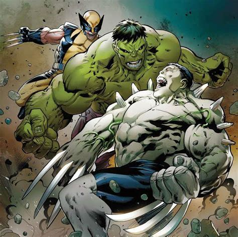 It's Wolverine and The Hulk vs. Weapon H in HULKVERINES ...