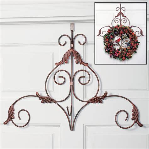 decorative scroll metal holiday wreath hanger fall harvest