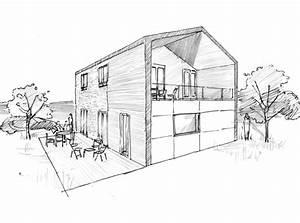 Plan maison avec balcon et terrasse ‒ Ooreka