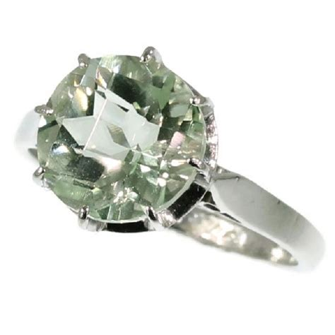 Platinum Solitaire Engagement Ring With Green Quartz (also. Tire Rings. First Child Engagement Rings. Thumb Print Wedding Rings. Popular Celebrity Engagement Wedding Rings. Pale Green Engagement Rings. De Beer Engagement Rings. Fishing Lure Rings. Super Thin Wedding Rings
