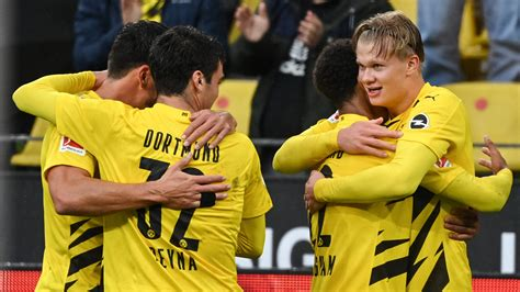 The european minnows put up a fight. Haaland nets twice as Dortmund run riot