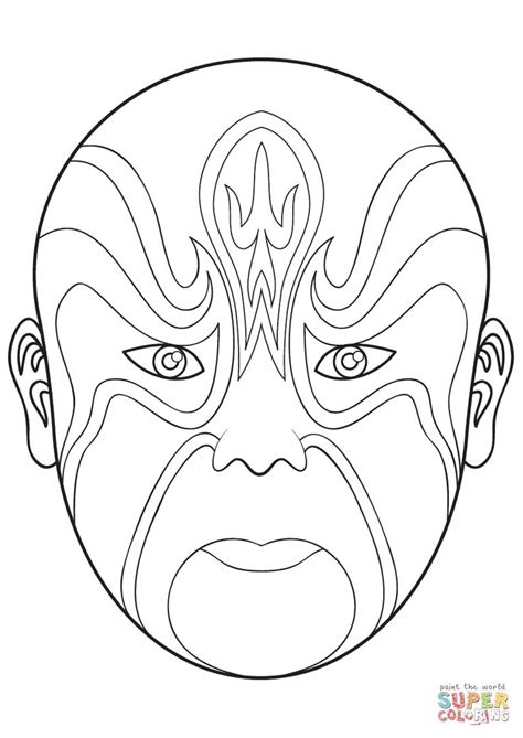 Coloring Mask by Opera Mask 4 Coloring Coloring Page