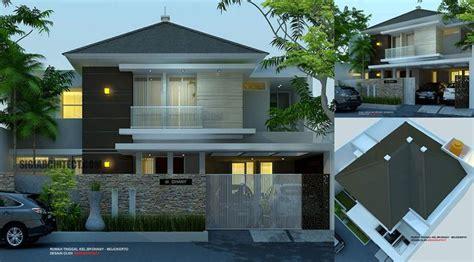 model rumah mewah  lantai    desain exterior