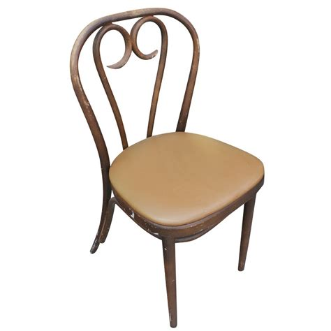 1 vintage thonet bentwood dining side chair beige seat ebay