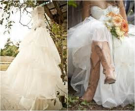 country wedding flower dresses rustic wedding with bridesmaids in cowboy boots rustic wedding chic