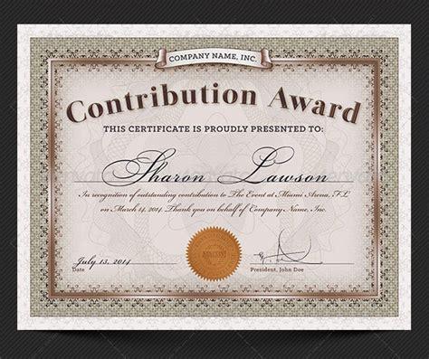 award certificate templates word psd ai eps