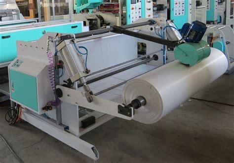 produce bag making machine  heat slit seal automatic turret winder avita machinery