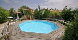 Enterrer Une Piscine Hors Sol : ambiance piscine et bois crest pisciniste dr me 26 ~ Melissatoandfro.com Idées de Décoration
