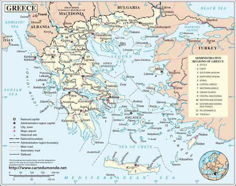 karte griechenland karte auf land griechenland