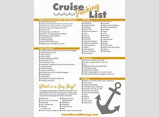Packing List for Cruise Tips on What the