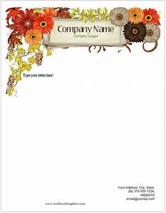 Email Template Word Floral Letterhead Templates For Ms Word Word Excel