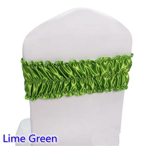 lime green sash wedding chair sash ruffled spandex sash