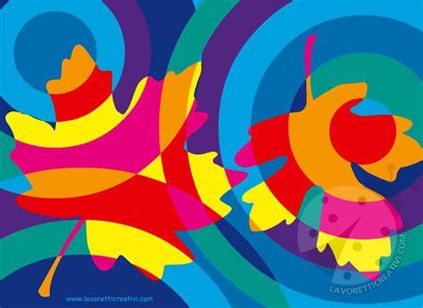foglie  colori caldi  colori freddi lavoretti creativi