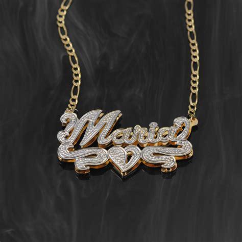 "Doubleplate Rhodium Beaded Name Necklace ""maria"". Pear Pendant. 14k Rose Gold Bangle Bracelet. Disc Earrings. Caliber Watches. Pure Gold Engagement Rings. Blue Sapphire Necklace. Designer Diamond Pendant. Dream Diamond"