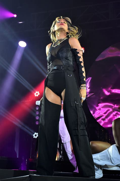 Rita Ora Performs on Stage at the American Express Gold ...