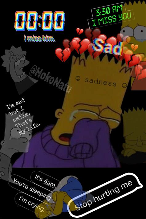 sad negro triste sadness cry simpson original