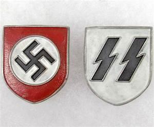 German Ss Badge Set of 2 german nazi ss helmet | Badges ...
