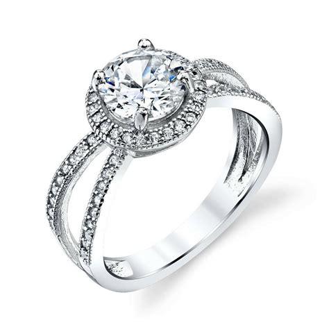 3 carat total sterling silver bridal cz engagement wedding