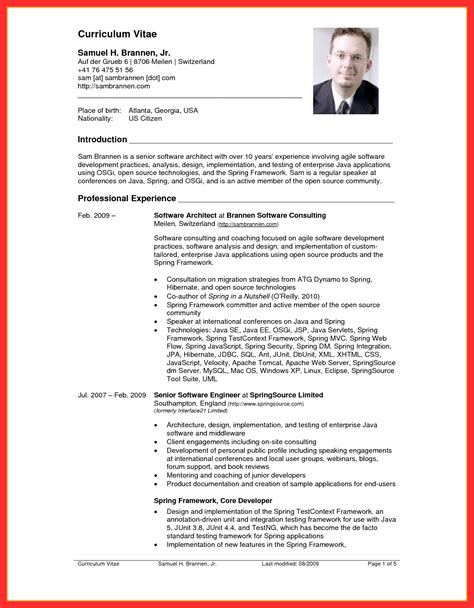 Curriculum Vitae Resume Template by Resume Usa Template Resume Format