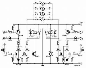 Car Central Locking System Circuit Diagram