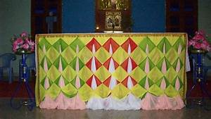 Altar Decoration With Sarees For Christmas