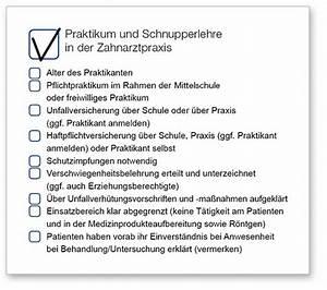 Einverständniserklärung Ausbildung : praktikum und schnupperlehre in der zahnarztpraxis bayerische landeszahn rztekammer ~ Themetempest.com Abrechnung