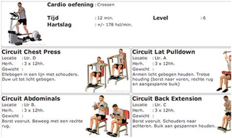 schema crosstrainer voor beginners