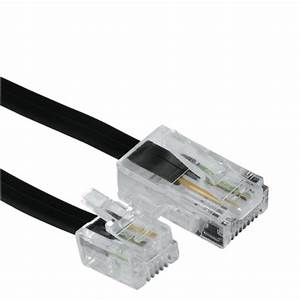 Hama Dsl Connection Cable 8p4c Modular Plug