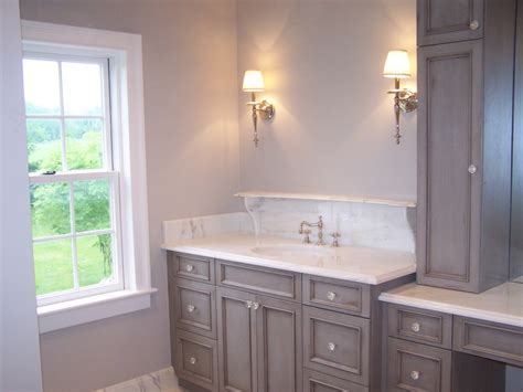 Bathroom Vanity With Makeup Station by Baltimore Bathroom Renovation Remodeling Ozcorp