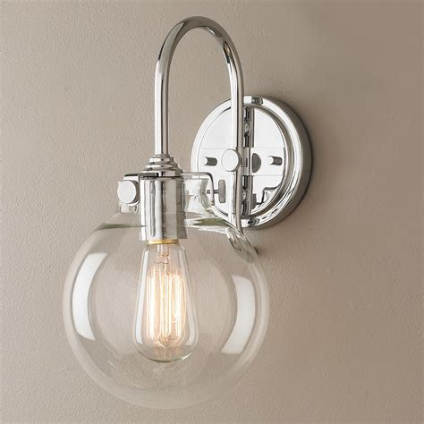 retro glass globe wall sconce shades  light