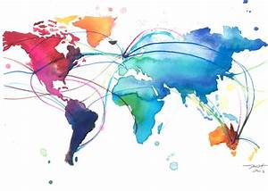 canvaspaintings: World Map for Dennis, print... - Only ...